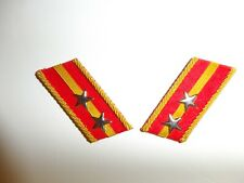 e3657p WW2 Japan Japanese Army Rank Officer 1st Lieutenant 2 star pair R17D