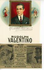 VINTAGE ORIGINAL-3 ITEMS-RUDOLPH VALENTINO- THE SHEIK- THE EAGLE-2 SIGNED PRINTS