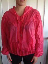 Lululemon Size 4 Transparent Warm Up Windbreaker Pink Run Coat Jacket Hoodie