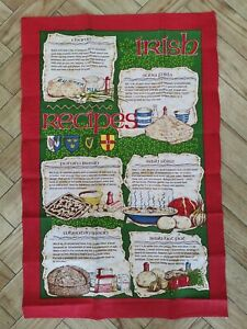 Samuel Lamont Irish Recipes Linen Tea Towel - Linen Blend