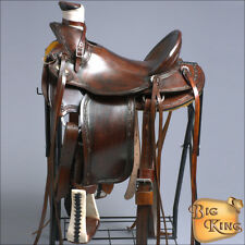 17'' HILASON BIG KING SERIES WESTERN WADE RANCH ROPING COWBOY TRAIL SADDLE