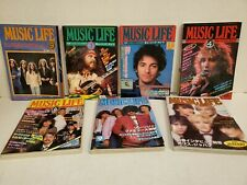 Music Life Japanese Mag Lot of 7 Issues 1976-1981