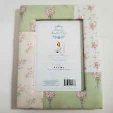 """Simply Shabby Chic 5"""" X 7"""" Floral Fabric Picture Frame   a6"""