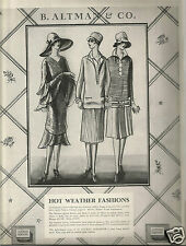 20's B. Altman & Co. Fashion Ad  1926