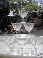 1960s Webb Corbett Crystal 6 Champagne Bowls Rare Pattern similar to Juno Signed