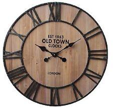 """Extra, Extra Extra Large Retro Shabby Chic Wall Clock 70cm Diameter (27"""" +) 7232"""