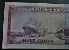 BAHRAIN 1964 Half Dinar  1 / 2  Dollar Circulated Banknote LOW SHIPPING