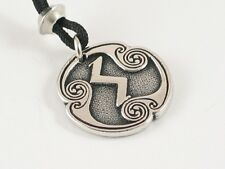 Sigel, the rune of the Sun  Pewter Pendant, Stress, Invincibility