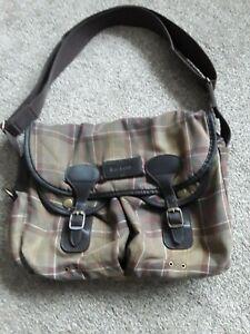 Genuine Barbour Classic Tartan Messenger Bag