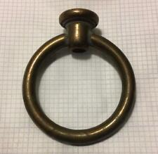 """Solid Brass Loop Hook Circle Lamp Finial 2 9/16"""" H with wire way FREE SHIPPING"""
