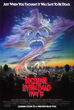 24X36Inch Art RETURN OF THE LIVING DEAD Part 2 Movie Poster Horror Zombies P01
