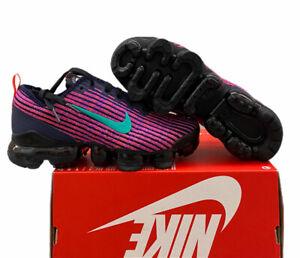 Nike Air Vapormax Flyknit 3 GS  Purple Blackened BQ5238-402 Sz 5y/6.5w No Lid