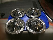 14' Inch PMD Pontiac Hub Caps Wheel Covers Genuine GM 1967 Set Of 4 NR Free Ship