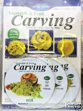 Vegetable,Fruit &Soap Carving Learning Book Included 3 Video CD Bilingual Th/Eng