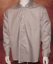 Joseph Abboud Slim Fit Dress Shirt 17.5 34/35 Size Long Sleeve Solid Gray