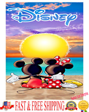 Disney Towel Sunset Mickey Minnie Beach Towel Bath Towel Original