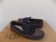 UGG STADLER STOUT LEATHER/ SHEEPSKIN TWINSOLE MOCCASIN LOAFERS, US 9/ 42~ NEW