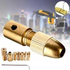 8Pcs 0.5-3mm Electric Drill Bit Collet Mini Twist Drill Tool Chuck Set Golden HS