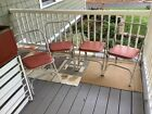4 Vintage Airlite Folding Aluminum Chairs 1960s Mid Century Red Seats