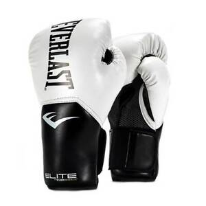 Everlast Pro Style Elite Workout Training Boxing Gloves Size 12 Ounces, White
