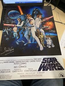 """DAVID PROWSE Hand Signed 24 X 16 STAR WARS Movie Poster Autograph """"DARTH VADER"""""""