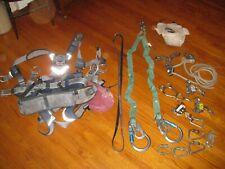 Dbi Sala Exofit Harness Medium With Shock Lanyard Fisk Descender Clamps