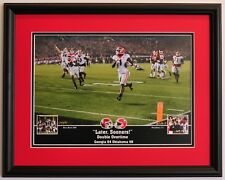 Georgia Bulldogs Football Framed Print Dawgs beat Oklahoma to win the Rose Bowl