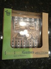 BACKGAMMON BAMBOO GAME ECO SERIES POCKET GAMES BRAIN PUZZLE NOVELTY TOY