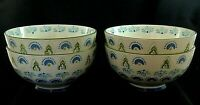 "CHLOE by Boho Boutique Target Soup Cereal BOWLS Stoneware Green Blue 6"" Set of 4"