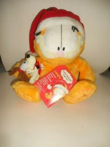 Garfield & Odie Macy's Limited Edition 25 Years Christmas Plush Cat Dog 18""
