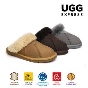 【EXTRA20%OFF】UGG Slippers Women Men Robert AuDouble Face Sheepskin Water Res.