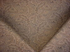 6+y DAVID ROTHSCHILD VALEJO BLACK TAUPE FLORAL PAISLEY UPHOLSTERY FABRIC