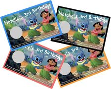 LILO & STITCH SCRATCH OFF OFFS PARTY GAME GAMES CARDS & BIRTHDAY FAVORS