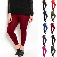 Fleece Plus Size Leggings Lined Thick Warm Winter Solid Women Womens 1x 2x 3x XL