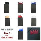 Men's Satin Silk Pre Folded Pocket Square Hankie Hankerchief Solid Color Party B