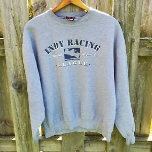 Indy Racing League Pullover Sweatshirt L, Long Sleeves Indianapolis 500 Indy Car