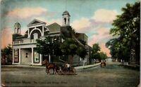 Bar Harbor Maine the Casino and Bridge Street 1910  Street Scene vintage PC A010