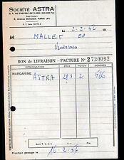 "PARIS (VIII°) MARGARINE ""Société ASTRA"" en 1956"