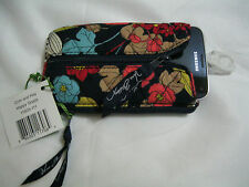 Vera Bradley HAPPY SNAILS Coin & Key CASE Purse COSMETIC Lipstick ID Phone, NWT~
