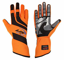 LRP Kart Racing Gloves- Speed Gloves Black/Orange