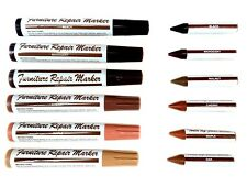 Furniture Repair Markers Touch Up Fillers 12pc Long Lasting 6 Wood Shades