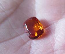 SAPHIR VERNEUIL JAUNE orangé INTENSE 8x10mm..COUSSIN..3,40cts ...IF