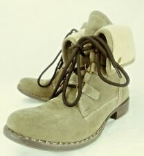 dd2c5b277 Diba Womens Boots Ankle US 9.5 taupe Suede Lace Fold Over Lined Winter 6265