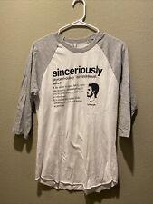 Sinceriously T Shirt Synonym Medium