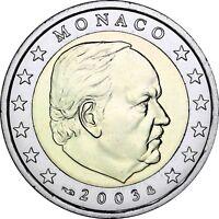 Monaco 2 Euro-Münze Fürst Rainier III 2003 prägefrisch in Münzkapsel
