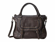New Authentic Frye Anna Satchel full grain leather bag - Charcoal