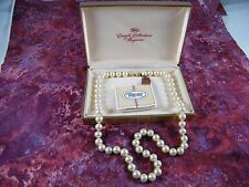 """VINTAGE TRIFARI CROWN COLLECTION FROM MAJORCA 24"""" FAUX PEARL NECKLACE"""