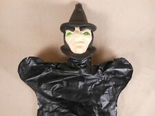 Vintage Witch Hand Puppet Halloween Doll Toy Decor Japan