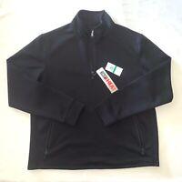 Mens Size L Large 32 Degrees Heat Full Zip Mock Neck Athletic Jacket Black Nwt