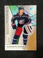 2019-20 SP GAME USED ALEXANDRE TEXIER AUTHENTIC ROOKIE PATCH GOLD #ed 55/65